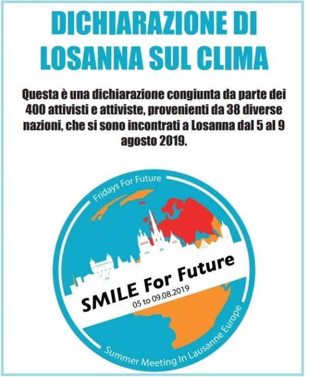 Diramazione ufficiale della Dichiarazione di Losanna sul Clima | Fridays For Future
