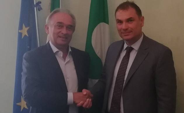 Il Presidente della Provincia di Cremona Signoroni incontra Gian Domenico Auricchio