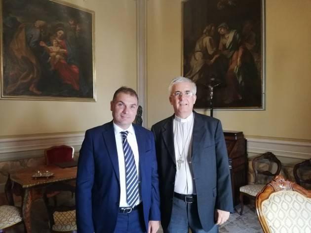 Cremona Il Presidente Paolo Mirko Signoroni ha fatto visita stamane al Vescovo di Cremona, Antonio Napolioni.