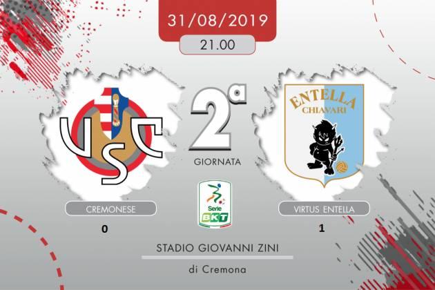 Cremonese- Entella (0-1) C'è chi corre e chi vorrebbe farlo ma non ci riesce | Giorgio Barbieri
