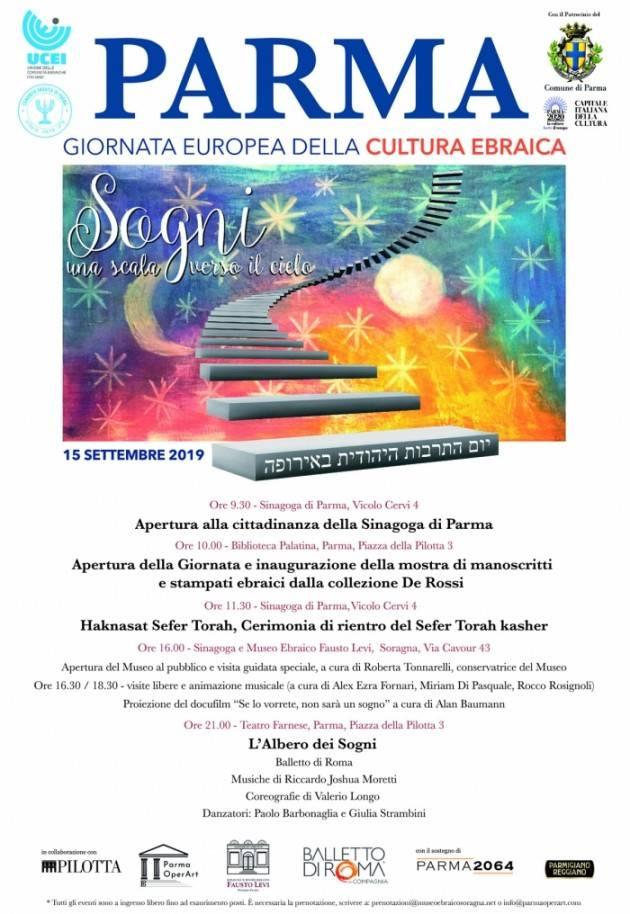 Giornata Europea della Cultura Ebraica a Parma il 15 settembre