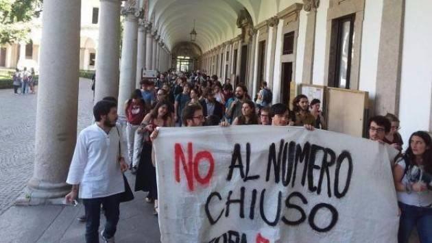 Università Udu contro il numero chiuso: 'Basta speculazioni'