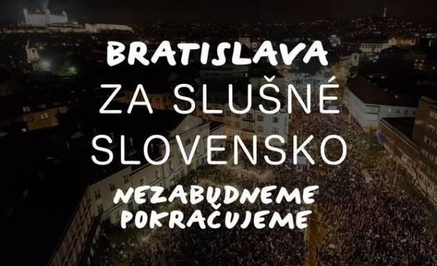 'Za slušné Slovensko' ( Per una Slovacchia dignitosa ) una nuova protesta di piazza il 20 settembre