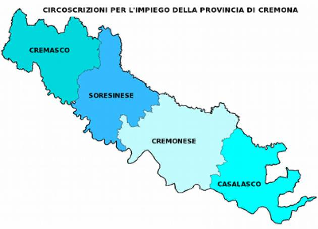 Provincia Cremona Rapporto popolazione residente :italiani 315.992, stranieri 42.963 pari al 12%
