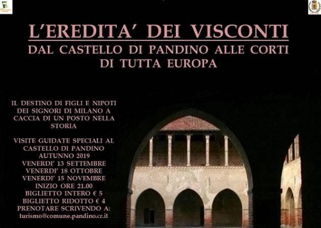 Visite serali al castello di Pandino: gli appuntamenti della stagione autunnale Evento 15 novembre