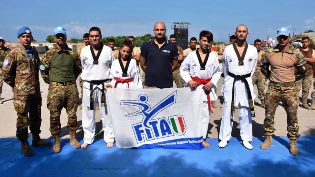 Contingente italiano in Libano : concluso il progetto sportivo disciplina del taekwondo|Christian Flammia
