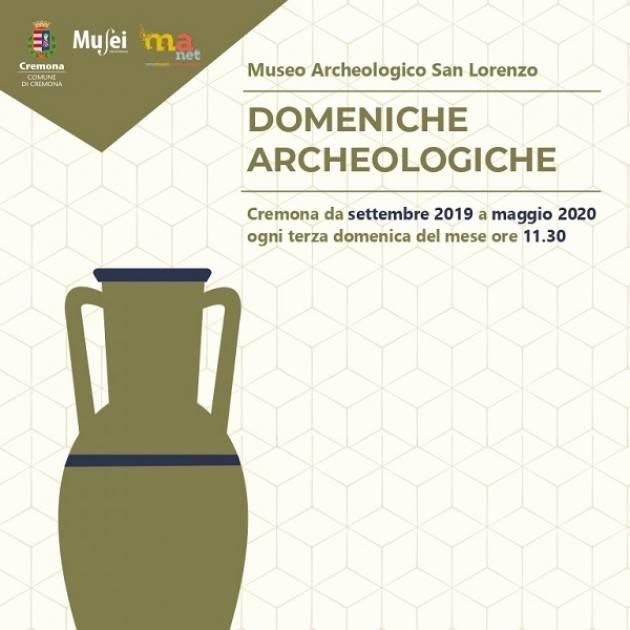 Cremona Dal 15 settembre Domeniche archeologiche al Museo di San Lorenzo