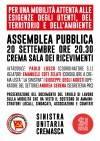 Crema Iniziativa pubblica sulla mobilità venerdì  Indetta dalla Sinistra Unitaria
