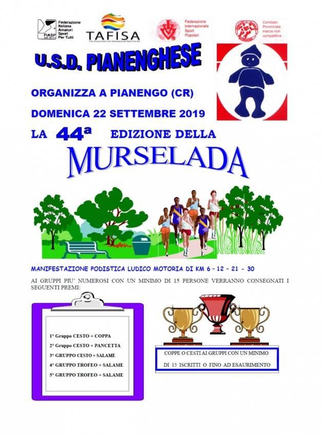 Crema Libera e i soci di Banca Etica partecipano il 22 alla 'Murselada'