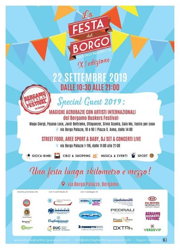 Bergamo Domenica 22 settembre, Borgo Palazzo ospita l'XI edizione della Festa del Borgo