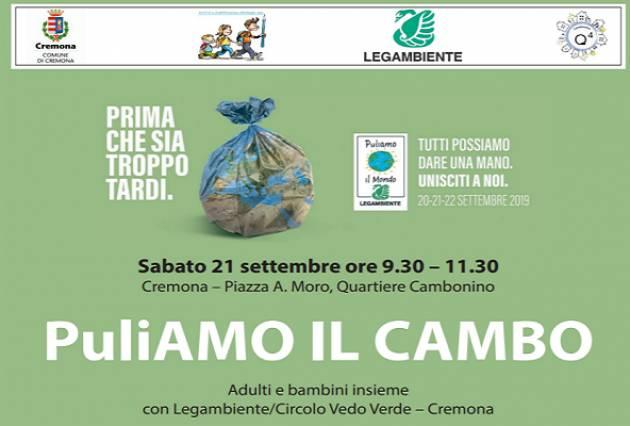 Puliamo il Mondo 2019: le iniziative con scuole e comitati di quartiere a Cremona