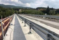 Ponte sul Nure di Farini, sopralluogo del Presidente Barbieri