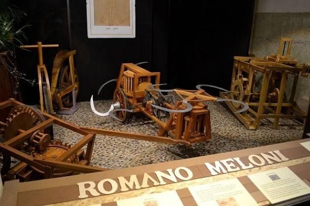 Romano Meloni Artigiano del Legno espone a Piadena le sue macchine del Codice Leonardesco
