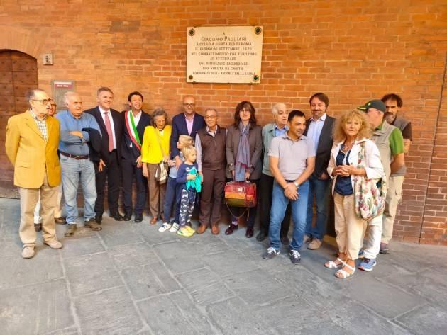 Cremona 149° della presa di Porta Pia Galimberti partecipa alla celebrazione ricordando Giacomo Pagliari (Video G.C.storti)
