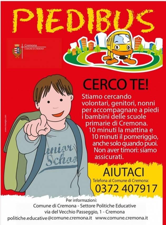 Cremona Il settore delle politiche educative cerca  volontari per il PIEDIBUS