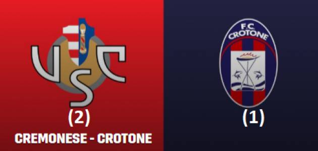 Cremonese (2)-Crotone (1) Dopo la debacle con il Pisa finalmente risorge | Giorgio Barbieri