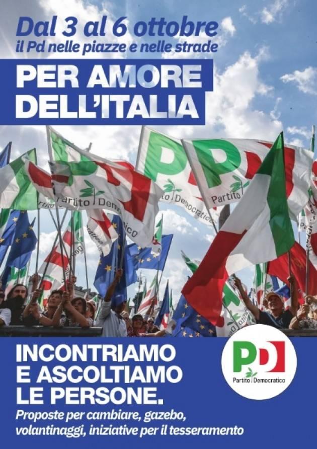 Cremona Vittore Soldo (PD):  dal 3 al 6 ottobre il PD in piazza per ascoltare i cittadini