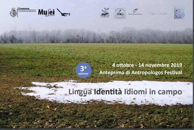 Al Museo Cambonino Cremona di Antropologos festival 3a ed. il 4 ottobre