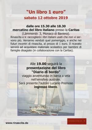 Monaco di Baviera Rinascita.de Invita al mercatino del libro italiano 'Un libro 1 euro' il 12 ottobre