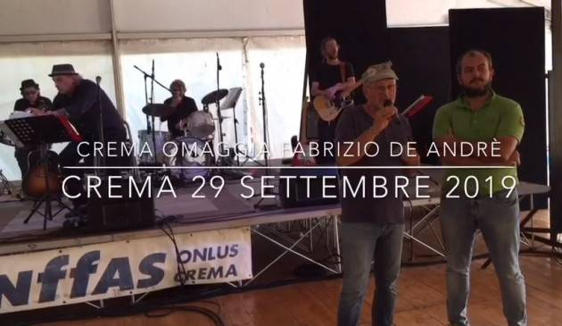 AnffasCrema  Nove ore di musica per ricordare Fabrizio De André (Video di E.Mandelli)