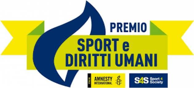 PREMIO 'SPORT E DIRITTI UMANI' DI AMNESTY ITALIA E SPORT4SOCIETY: AL VIA LA SECONDA EDIZIONE