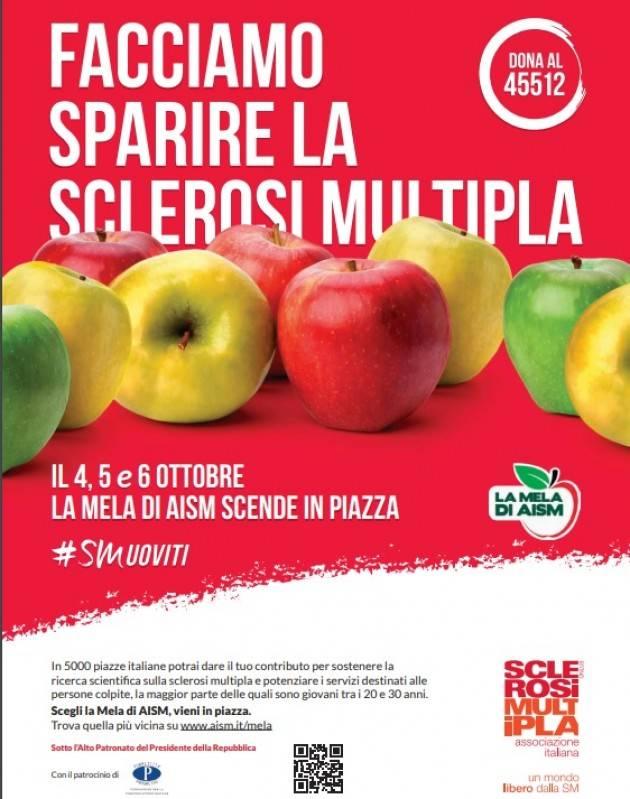 La Mela di AISM  torna in 5000 piazze italiane nei giorni 4, 5 e 6 ottobre 2019