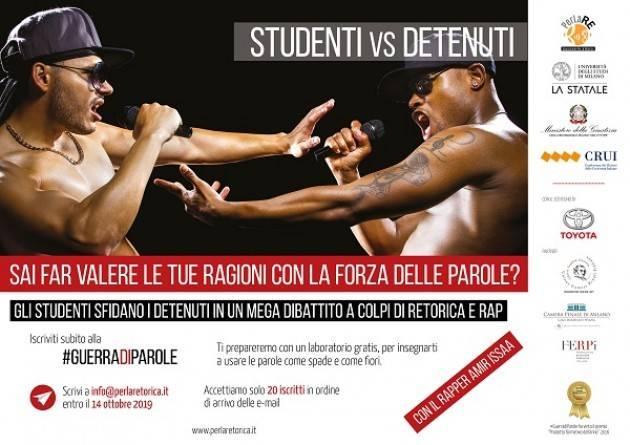Milano  #GuerradiParole: gara di retorica e rap tra gli studenti dell'Università Statale e i detenuti di San Vittore