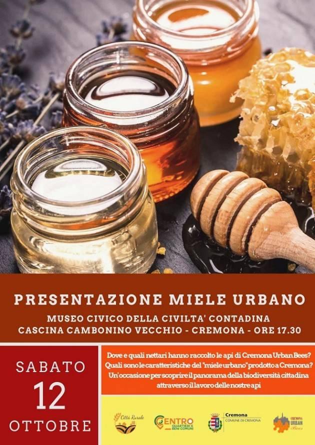 Presentazione 'Miele Urbano' al Cambonino di Cremona  il 12 ottobre
