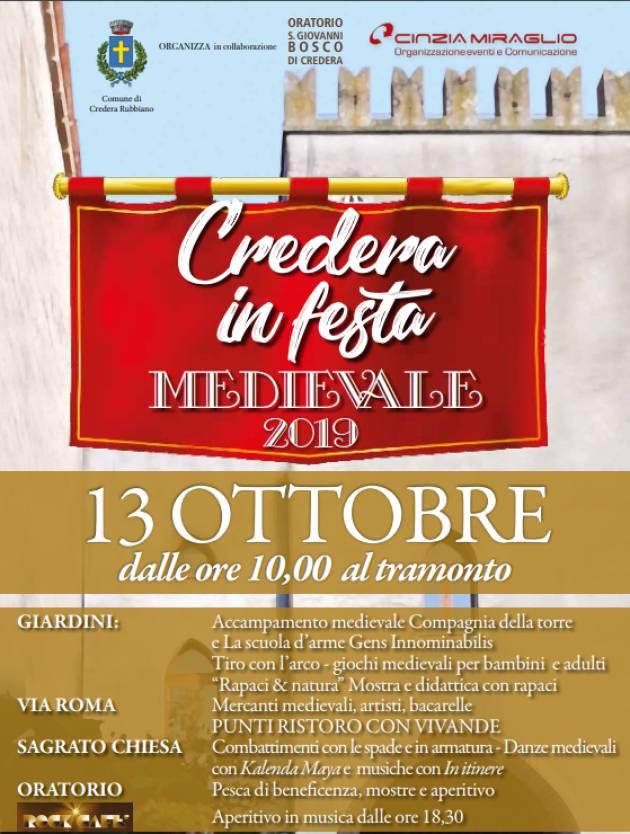 CREDERA (Cremona)  IN FESTA MEDIEVALE 2019 – 13 OTTOBRE 2019