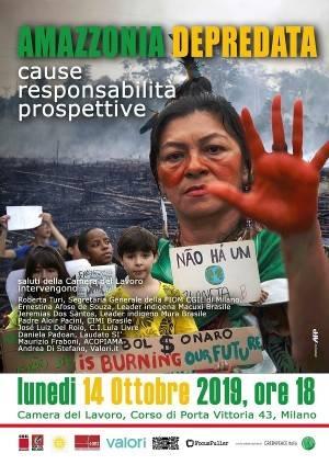 Amazzonia Iniziativa a Milano Lunedì 14 ottobre (audio)