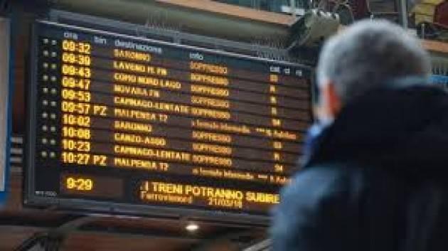 DISASTRO TRENORD: IL PD organizza MERCOLEDÌ 16 OTTOBRE PRESIDI NELLE STAZIONI DELLA PROVINCIA DI CREMONA