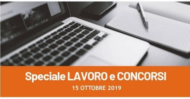 Informa Giovani Cremona SPECIALE LAVORO E CONCORSI del 15 ottobre  2019