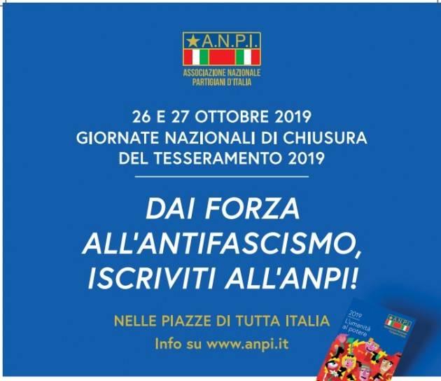 Cremona L'Anpi propone una serie di iniziative il 26 e 27 ottobre  a chiusura del tesseramento 2019.