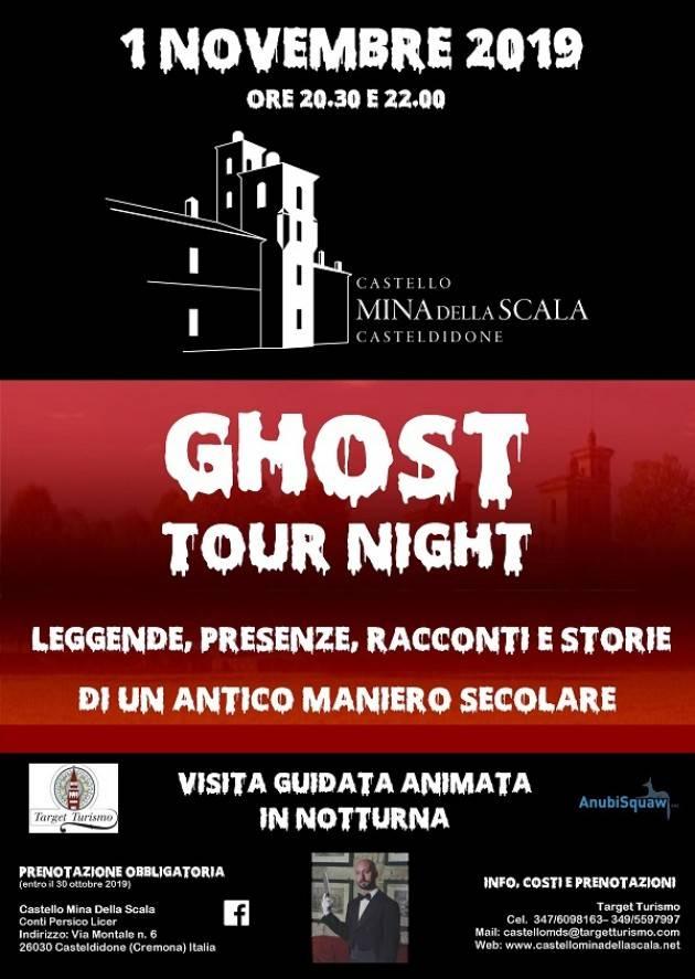 Casteldidone (Cremona) GHOST TOUR NIGHT 2019  Visite animate in notturna, il mistero al Castello Mina Della Scala