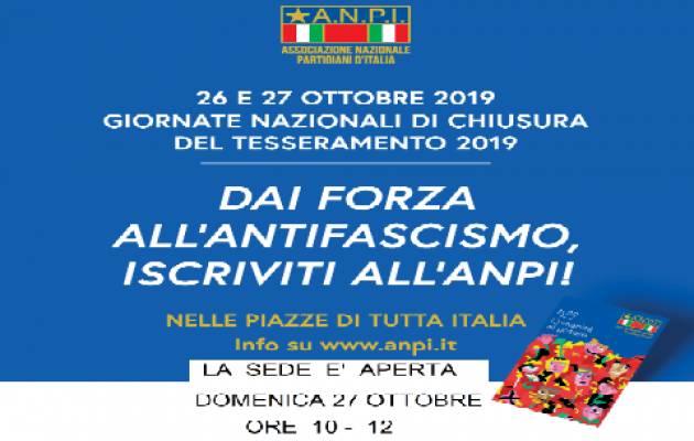 L'ECO EVENTI - TESSERAMENTO ANPI 26-27 OTTOBRE
