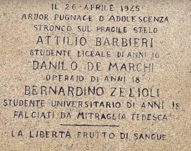 Cremona Attilio Barbieri: 'Fucilato dai tedeschi o caduto in uno scontro a fuoco | Ennio  Serventi