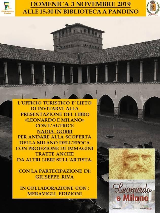 Pandino (Cr) Presentazione libri di  Leonardo il 3 novembre ore 15.30