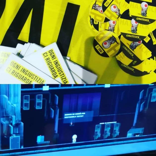 """Tecno Amnesty BASTA ODIO ONLINE! AL LUCCA COMICS AND GAMES LUCIANO SPINELLI LANCIA """"HATESICK"""", VIDEOGIOCO"""