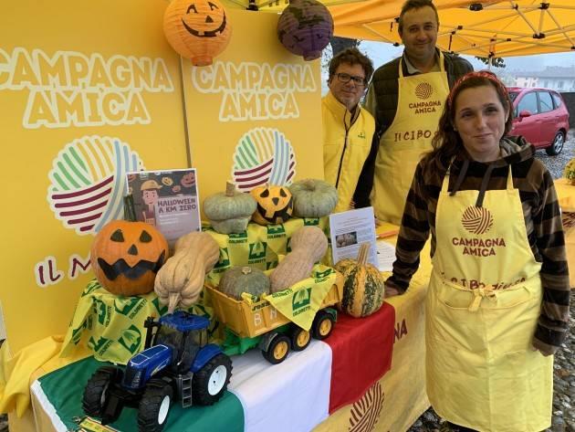 Coldiretti Halloween, 'Zucca Day' al Mercato di Campagna Amica Avvio a Pizzighettone poi  Crema e Cremona