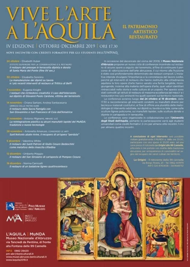 #Abruzzo: ha preso il via la 4/a edizione di 'Vive l'arte a L'Aquila'| Christian Flammia