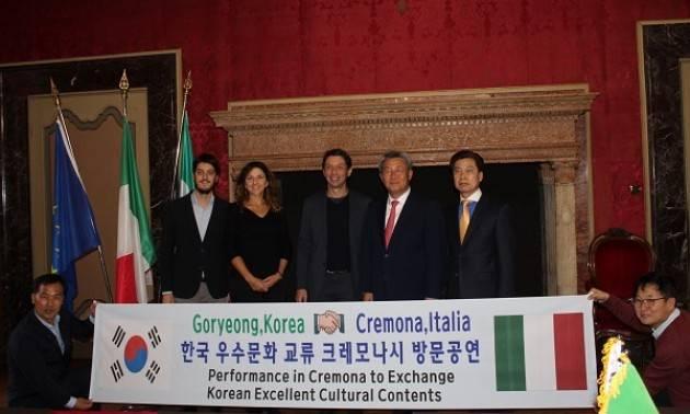 Incontro istituzionale, lo scorso 31 ottobre, della delegazione della  Corea del Sud a Cremona