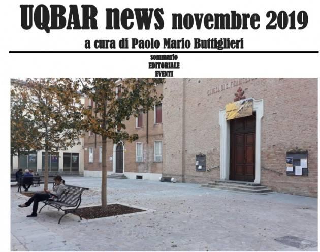 UQBAR NEWS NOVEMBRE 2019 di Fiorenzuola e dintorni