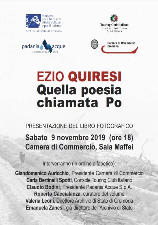 Cremona  EZIO QUIRESI Quella poesia chiamata Po PRESENTAZIONE DEL LIBRO FOTOGRAFICO