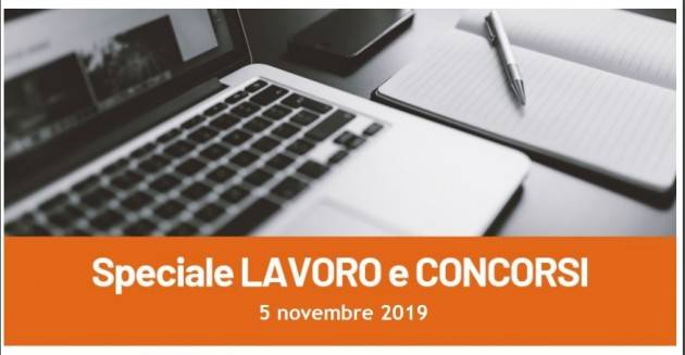 Informa Giovani Cremona SPECIALE LAVORO E CONCORSI del 5 novembre 2019