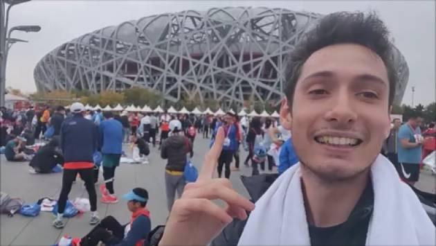 Tommaso Negri, giovane cremonese in Cina, ha partecipato alla maratona di Pechino del 3 novembre 2019