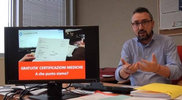 Matteo Piloni (PD) Certificati d'invalidità ancora a pagamento. Settimana in Consiglio Lombardia  dell'8 novembre  2019-video