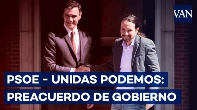 Una bella notizia Sanchez (Psoe)  e Iglesias (Podemos) firmano accordo per governo progressista | G.C.Storti