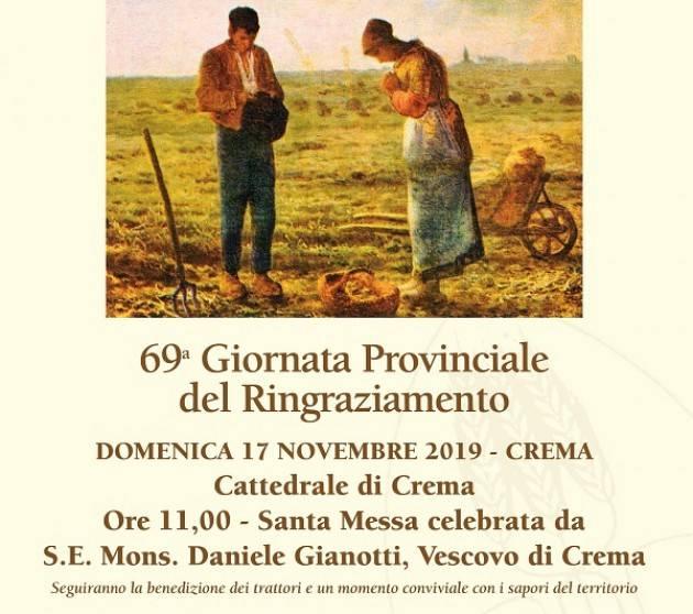Crema Agricoltura in festa Coldiretti: Domenica 17 novembre Giornata provinciale Ringraziamento Duomo