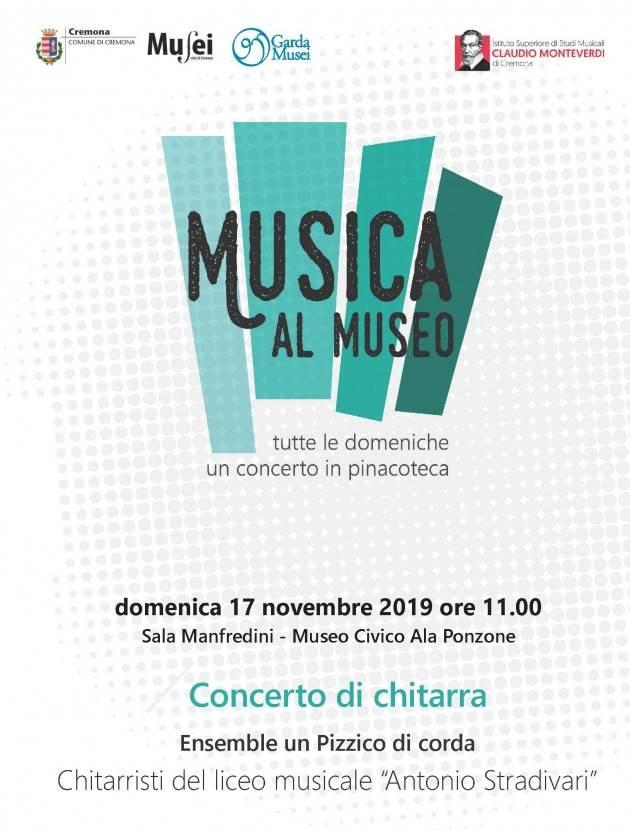 Cremona Domenica 17 novembre Concerto di chitarra in Sala Manfredini