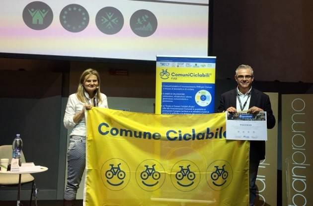 """Piacenza ComuneCiclabile """"a quattro bike-smile"""", per il secondo anno consecutivo arriva il riconoscimento Fiab"""